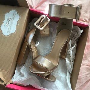 Charlotte Russe rose gold heels
